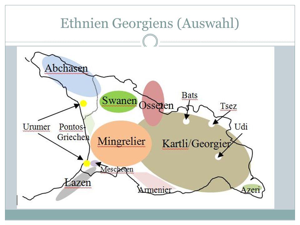 Ethnien Georgiens (Auswahl)