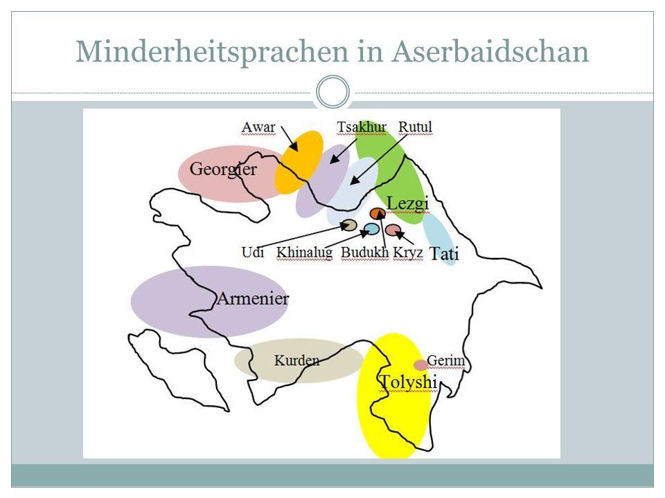Minderheitsprachen in Aserbaidschan