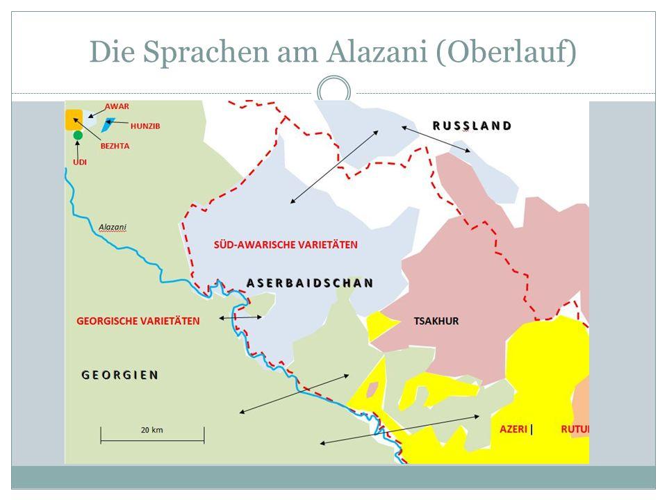Die Sprachen am Alazani (Oberlauf)