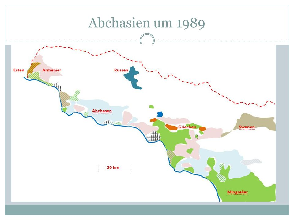 Abchasien um 1989