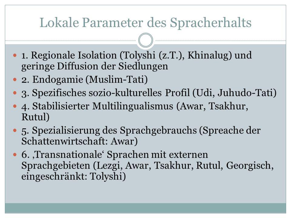 Lokale Parameter des Spracherhalts 1.