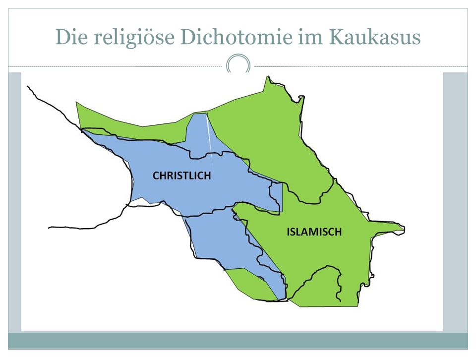 Die religiöse Dichotomie im Kaukasus