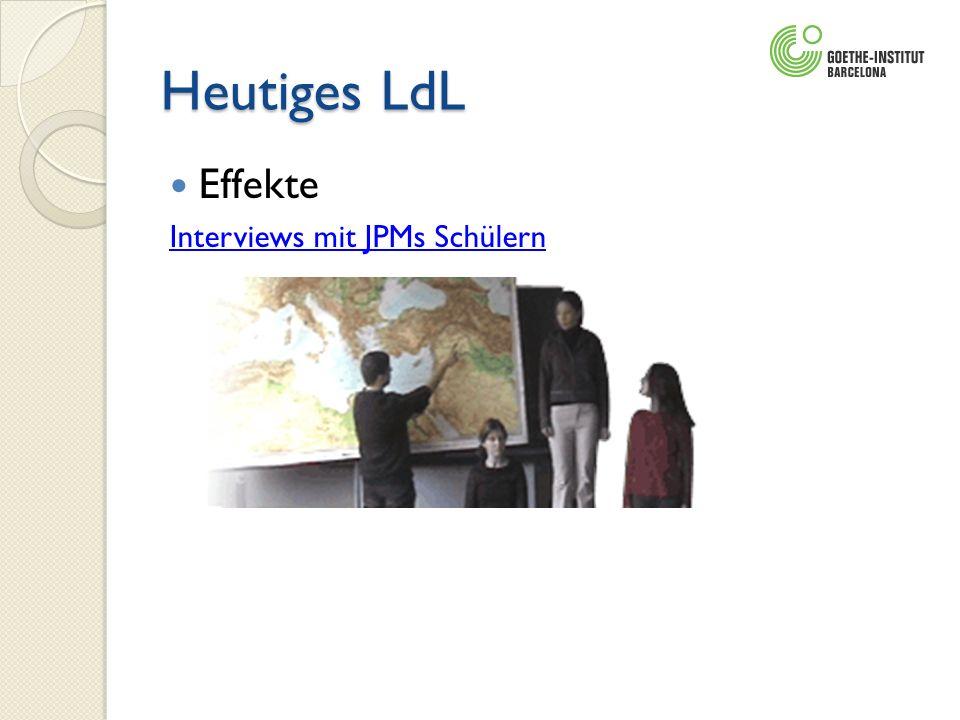 Heutiges LdL Effekte Interviews mit JPMs Schülern