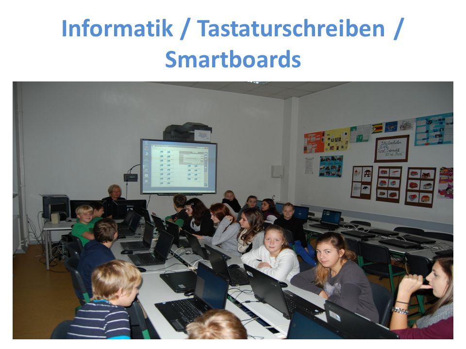 Informatik / Tastaturschreiben / Smartboards