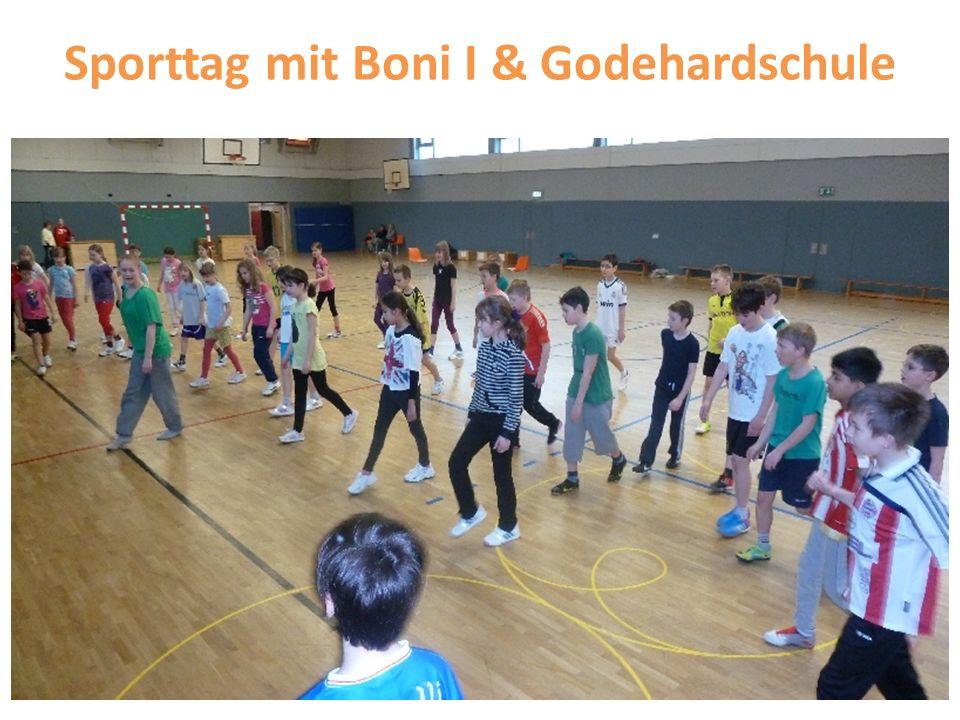 Sporttag mit Boni I & Godehardschule