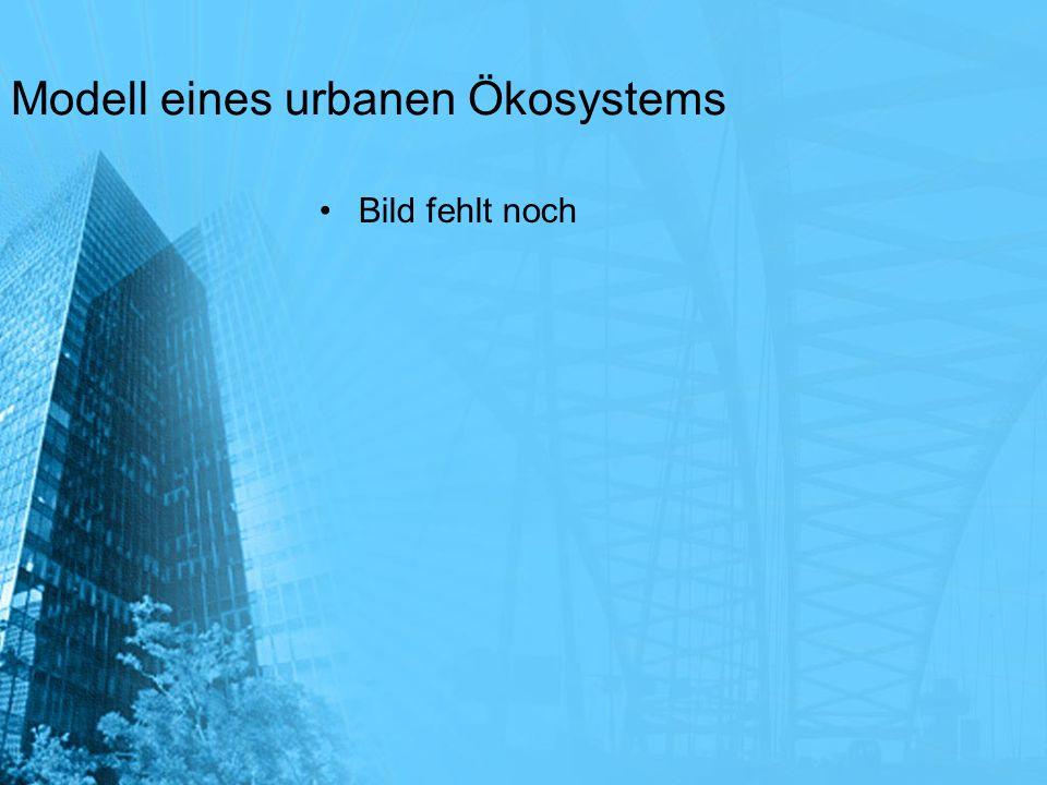 Modell eines urbanen Ökosystems Bild fehlt noch