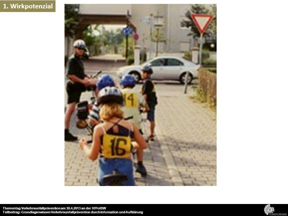 33 Thementag Verkehrsunfallprävention am 30.4.2013 an der HfPolBW Teilbeitrag: Grundlagenwissen Verkehrsunfallprävention durch Information und Aufklär