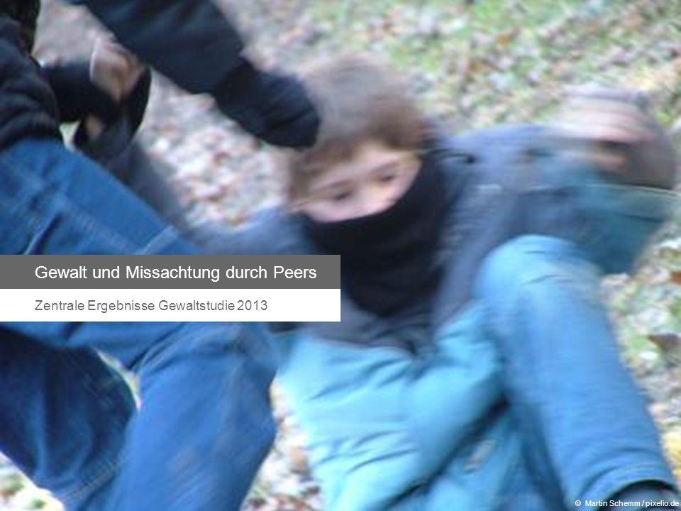 Gewalt und Missachtung durch Peers Zentrale Ergebnisse Gewaltstudie 2013 © Martin Schemm / pixelio.de