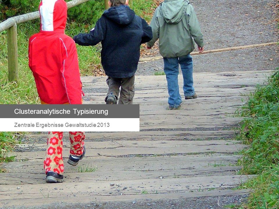 Clusteranalytische Typisierung Zentrale Ergebnisse Gewaltstudie 2013