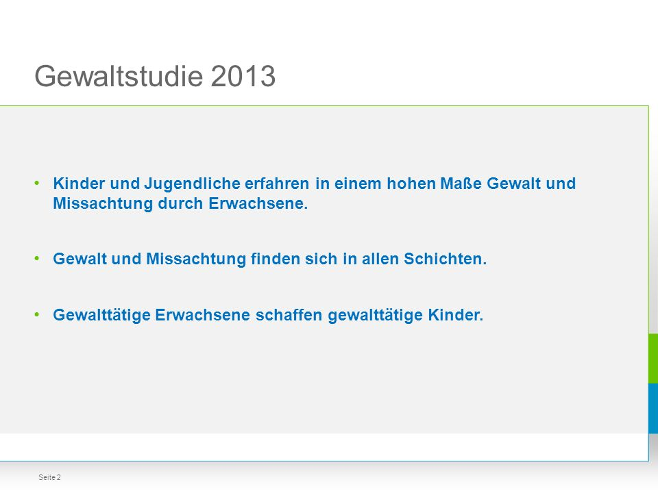Städteauswertung: Berlin, Köln, Dresden Gewaltstudie 2013