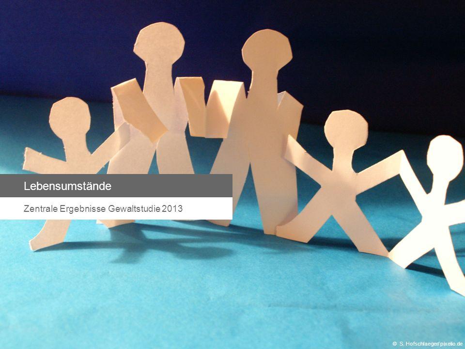 Lebensumstände Zentrale Ergebnisse Gewaltstudie 2013 © S. Hofschlaeger/ pixelio.de