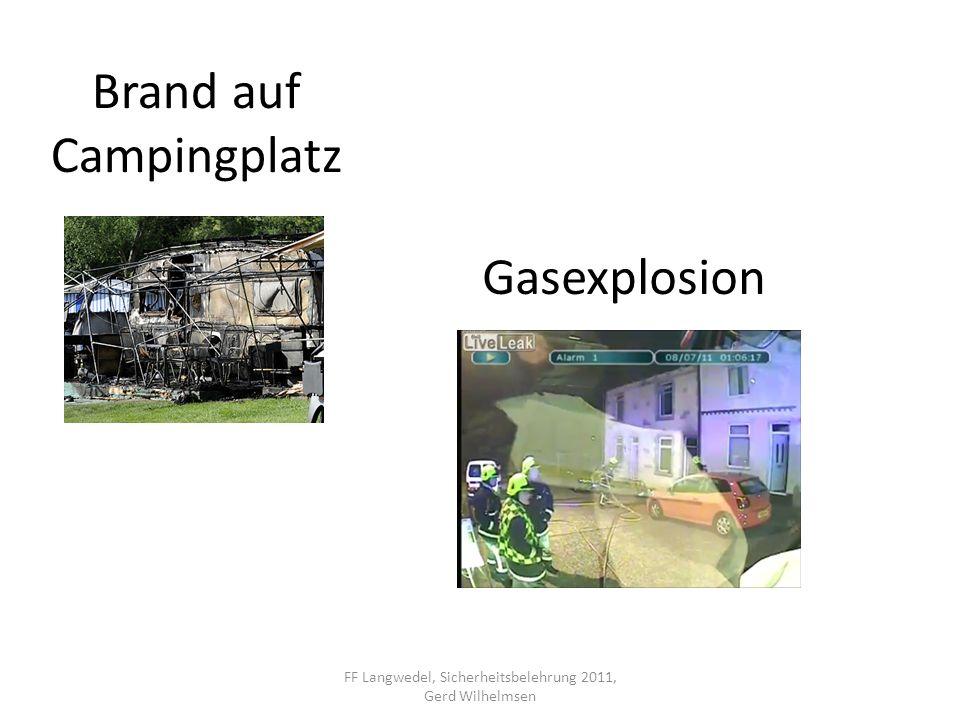 Gasaustritt im Gebäude – brennend GVU durch die Einsatzleitstelle alarmieren Gasversorgung unterbrechen Gasflammen nicht löschen – Explosionsgefahr.