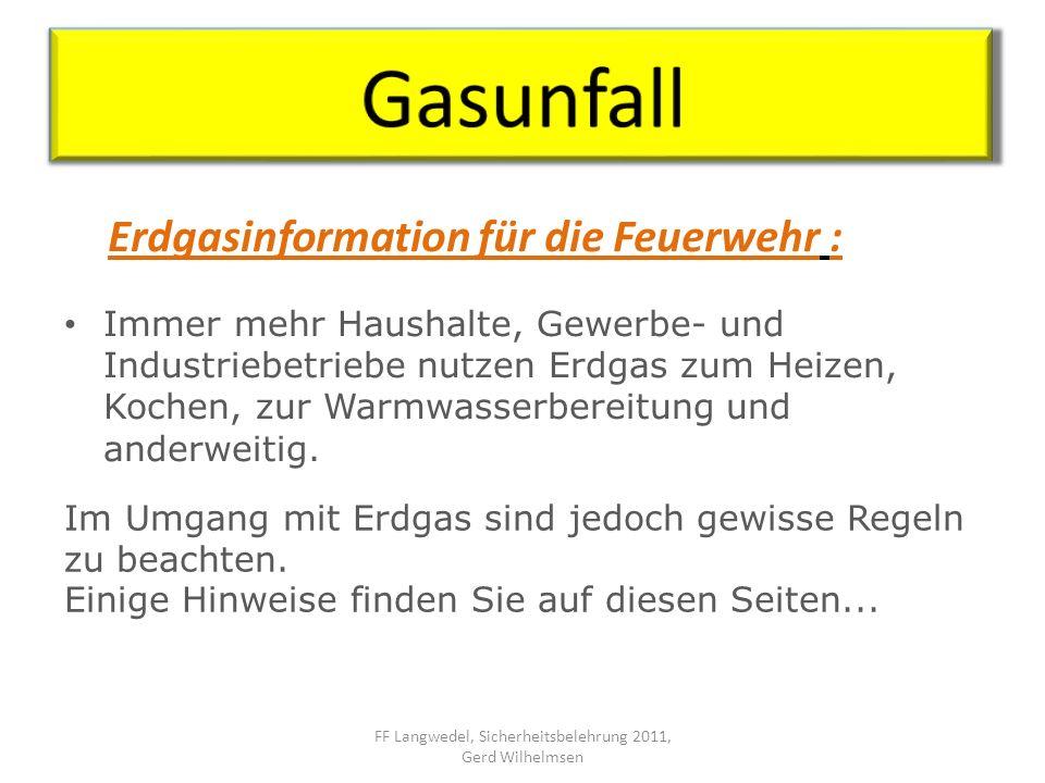 Gasaustritt im Gebäude –nicht brennend GVU durch die Einsatzleitstelle alarmieren Gaskonzentration messen Gasversorgung unterbrechen Bei Gasgeruch Gebäude räumen.