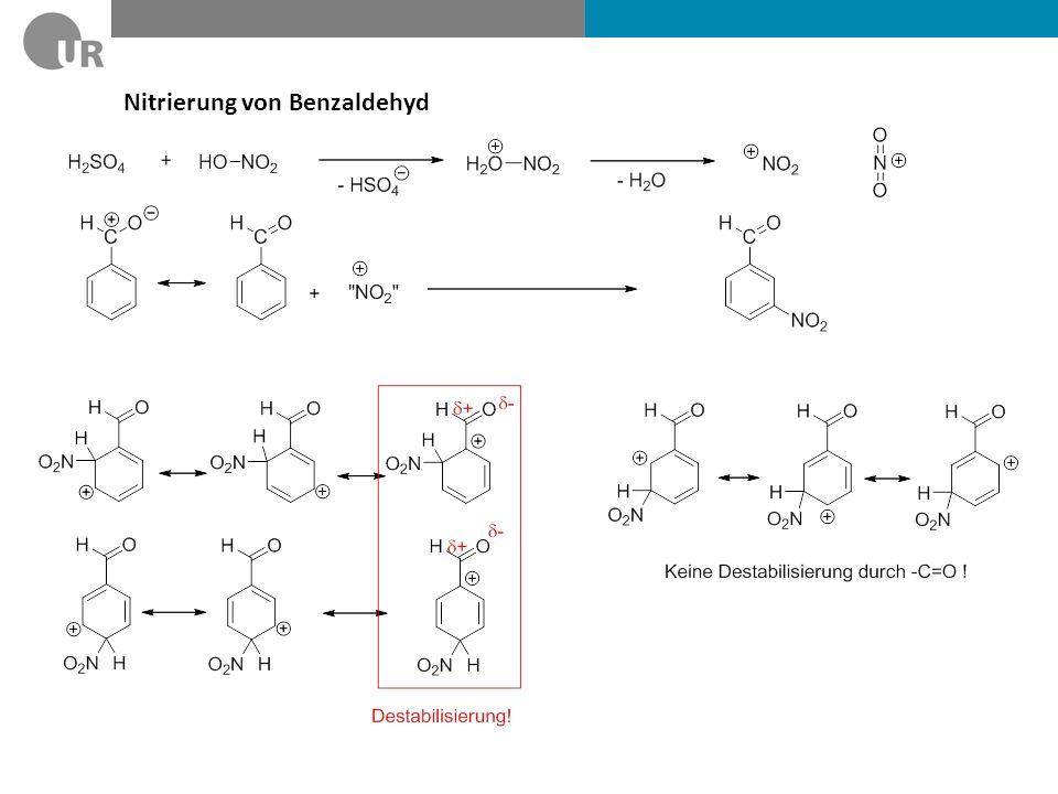 Nitrierung von Benzaldehyd