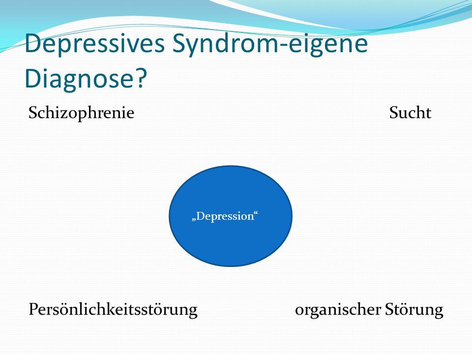 Depressives Syndrom-eigene Diagnose.