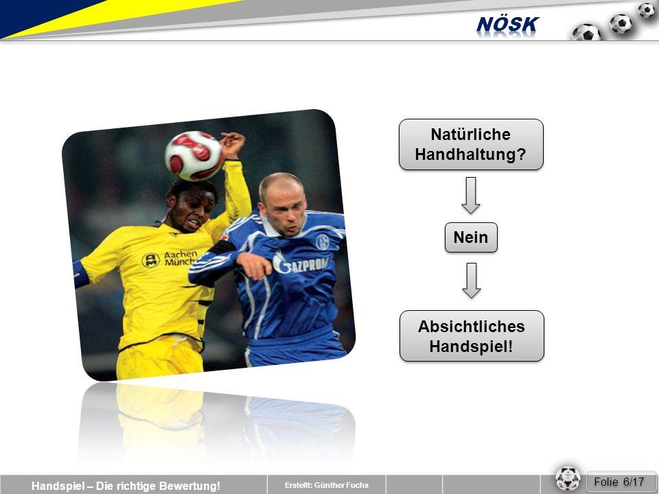 Handspiel – Die richtige Bewertung.Erstellt: Günther Fuchs Nein Natürliche Handhaltung.