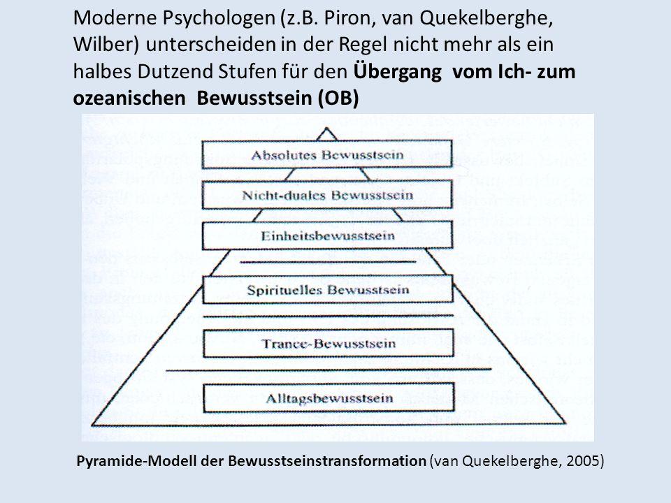 Moderne Psychologen (z.B. Piron, van Quekelberghe, Wilber) unterscheiden in der Regel nicht mehr als ein halbes Dutzend Stufen für den Übergang vom Ic