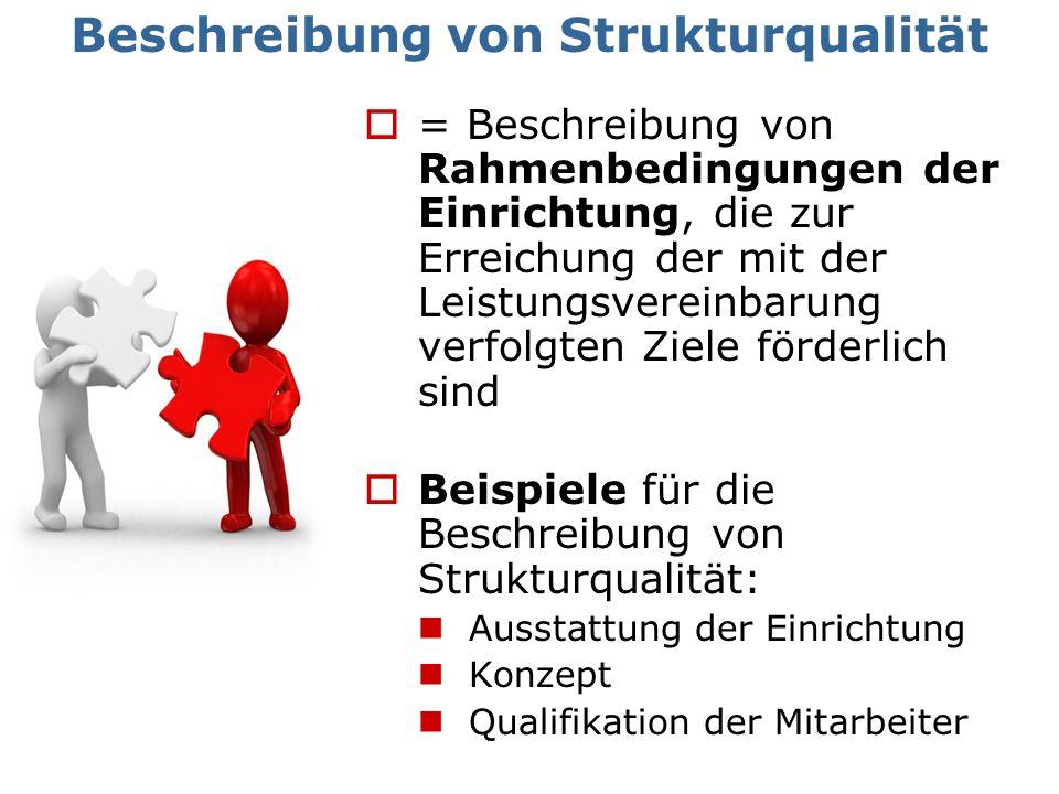 = Beschreibung von Rahmenbedingungen der Einrichtung, die zur Erreichung der mit der Leistungsvereinbarung verfolgten Ziele förderlich sind Beispiele