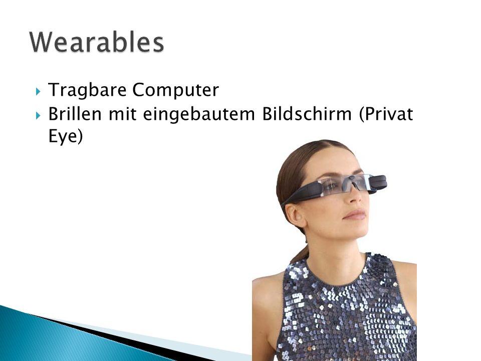 Tragbare Computer Brillen mit eingebautem Bildschirm (Privat Eye)