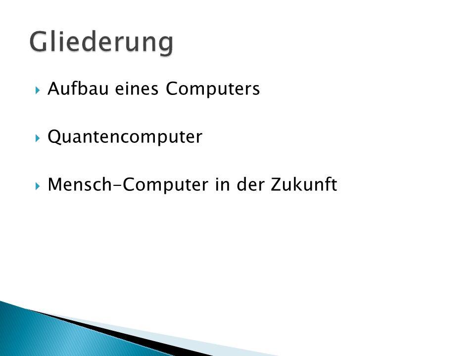 Aufbau eines Computers Quantencomputer Mensch-Computer in der Zukunft