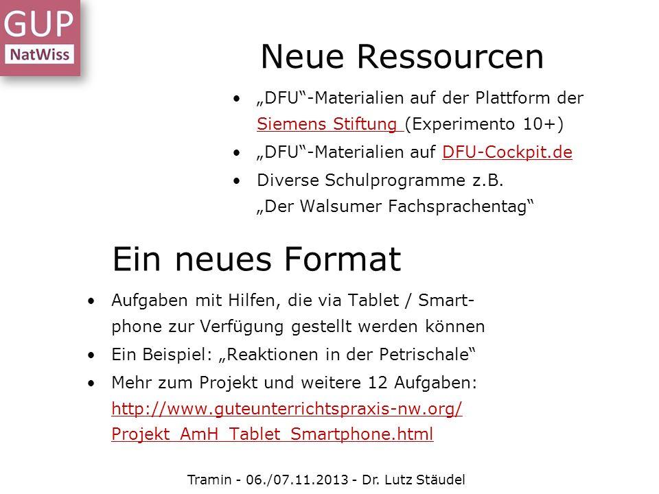 Neue Ressourcen DFU-Materialien auf der Plattform der Siemens Stiftung (Experimento 10+) Siemens Stiftung DFU-Materialien auf DFU-Cockpit.deDFU-Cockpi