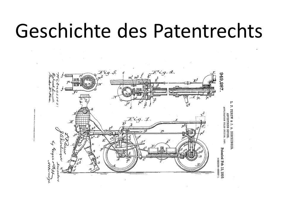 Geschichte des Patentrechts