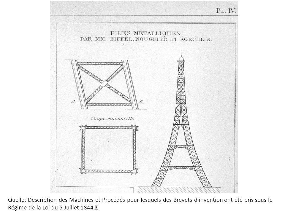 Quelle: Description des Machines et Procédés pour lesquels des Brevets d'invention ont été pris sous le