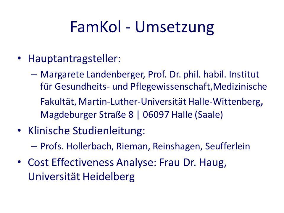 FamKol - Umsetzung Hauptantragsteller: – Margarete Landenberger, Prof.