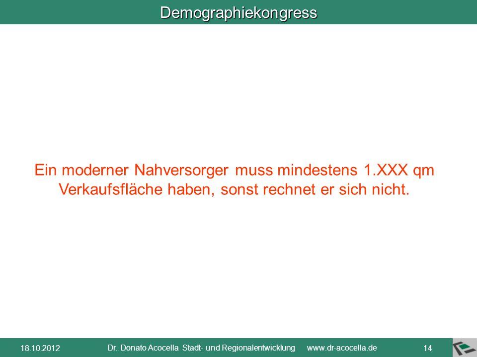 Demographiekongress Dr. Donato Acocella Stadt- und Regionalentwicklung www.dr-acocella.de 1318.10.2012 Quelle: NVV, traffiQ, PV Ballungsraum Frankfurt