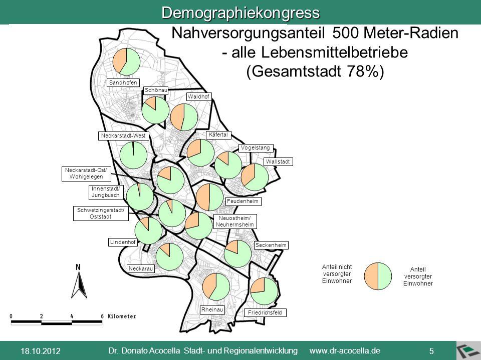 Demographiekongress Dr. Donato Acocella Stadt- und Regionalentwicklung www.dr-acocella.de 418.10.2012 Kaiserslautern Pirmasens Zweibrücken Kommunale V