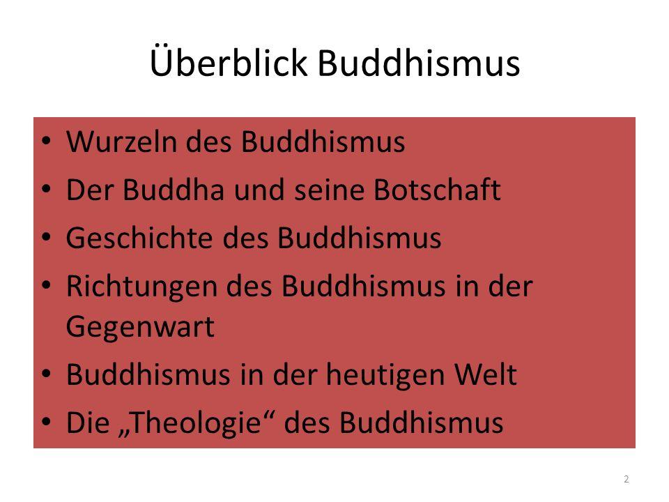 Überblick Buddhismus Wurzeln des Buddhismus Der Buddha und seine Botschaft Geschichte des Buddhismus Richtungen des Buddhismus in der Gegenwart Buddhi