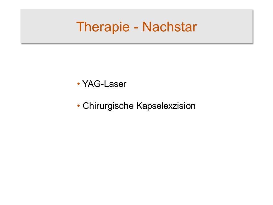 Therapie - Nachstar YAG-Laser Chirurgische Kapselexzision