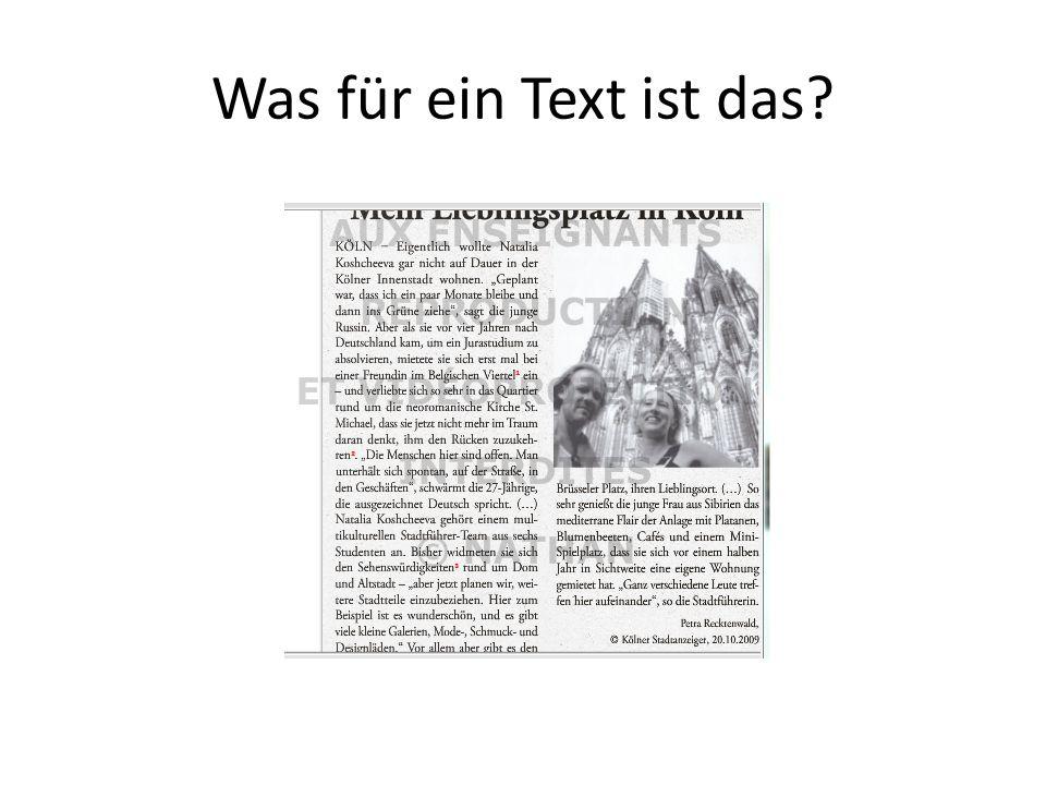 Was für ein Text ist das?