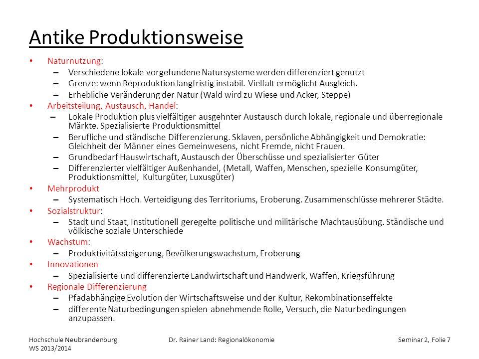 Kreislauf der Lohnarbeit Hochschule Neubrandenburg WS 2013/2014 Dr.