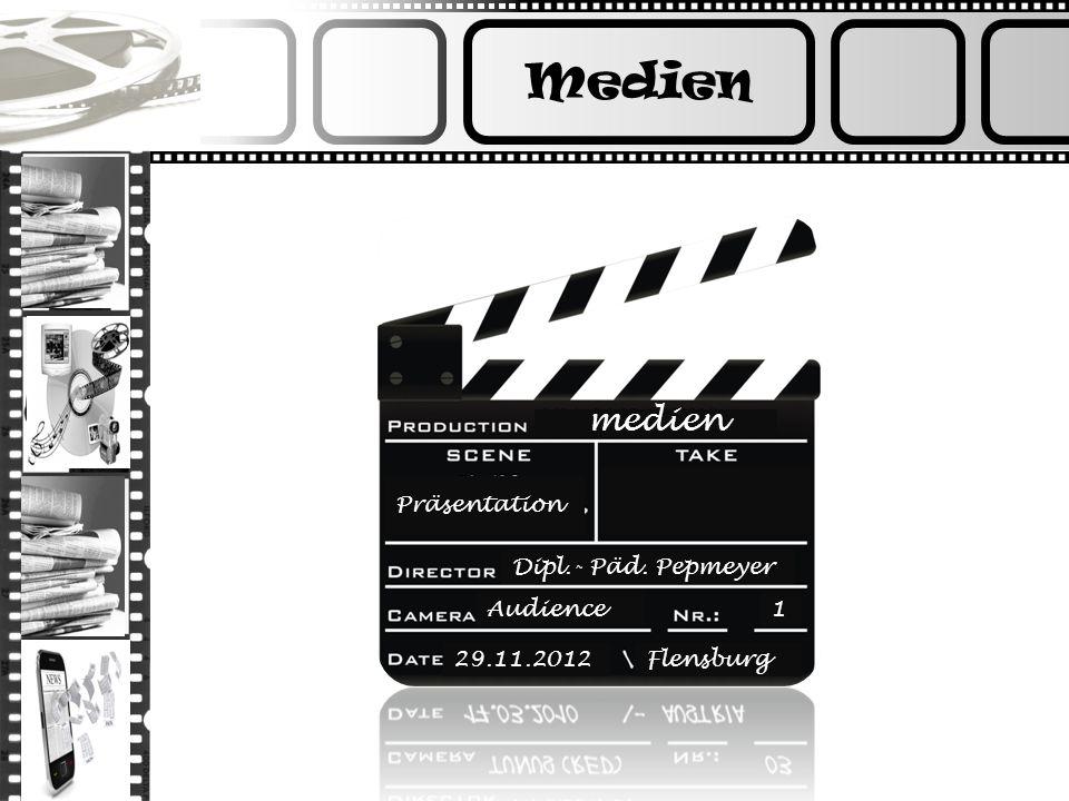 Medien medien Präsentation Dipl.- Päd. Pepmeyer Audience1 29.11.2012Flensburg