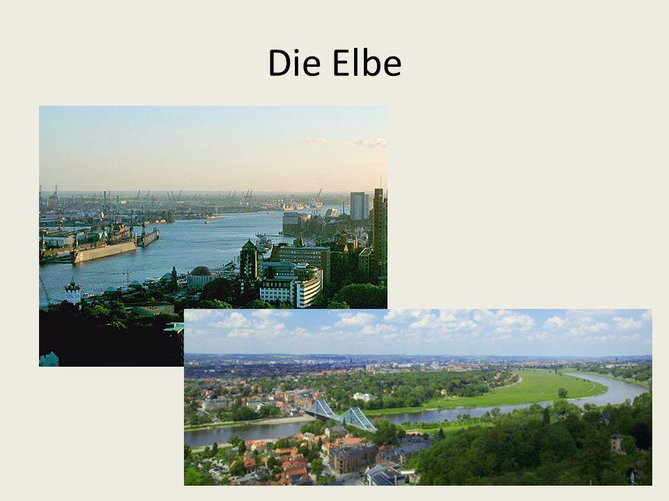Der Neckar: ein Fluss in Baden-Württemberg; er fließt durch Tübingen und Stuttgart und mündet bei Mannheim in die größte Gewässerstraße Deutschlands (den Rhein).