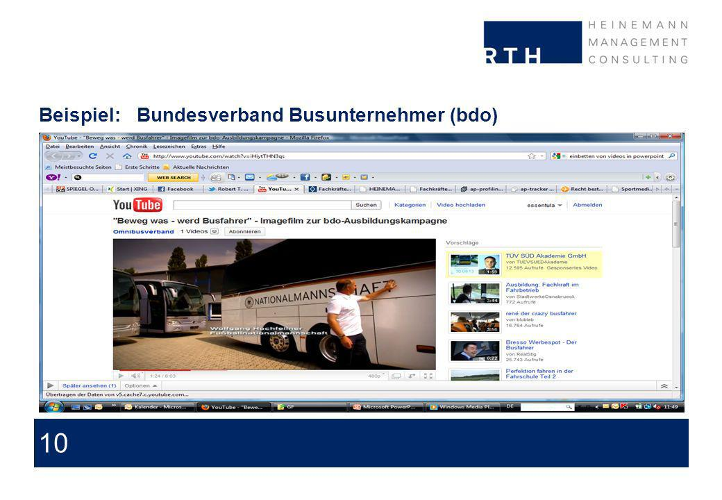 10 Beispiel:Bundesverband Busunternehmer (bdo) About issues we are discussing with our clients and prospects