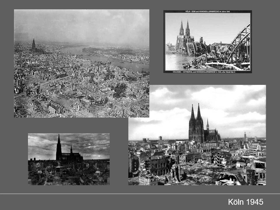 Wiederaufbau Köln 1891 Entwurf zur Neuordnung der Innenstadt Köln 1945