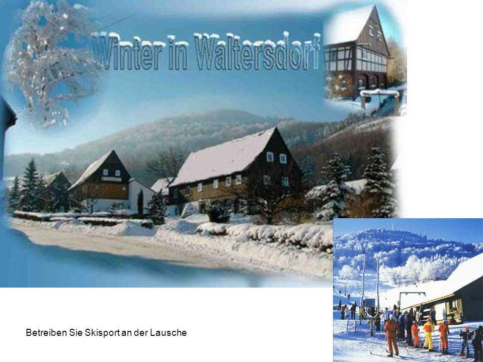 Betreiben Sie Skisport an der Lausche
