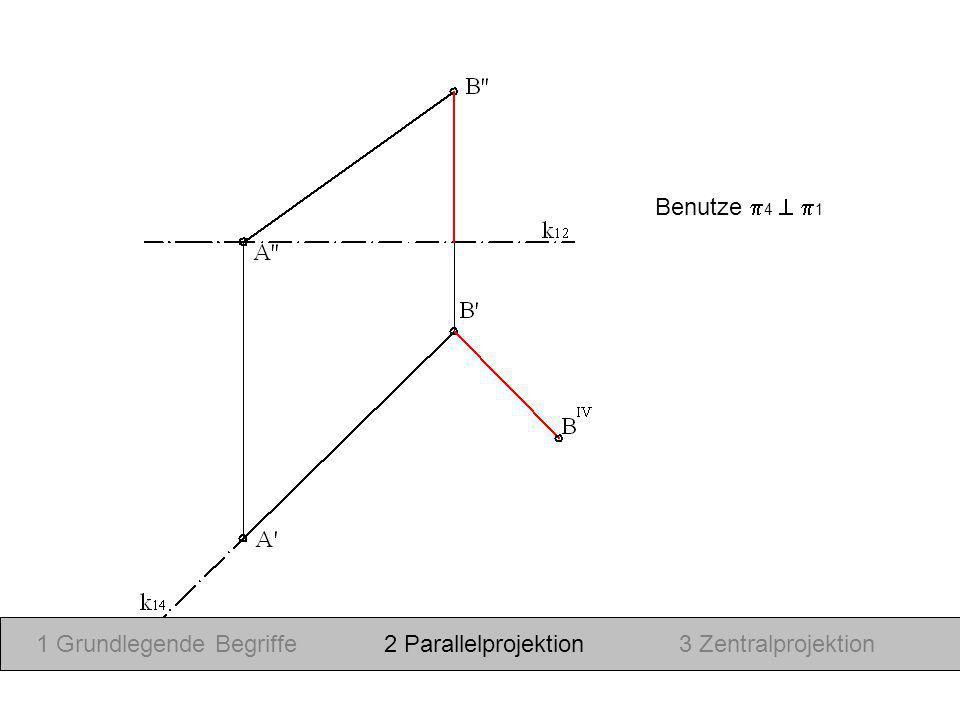Benutze 4 1 1 Grundlegende Begriffe2 Parallelprojektion3 Zentralprojektion