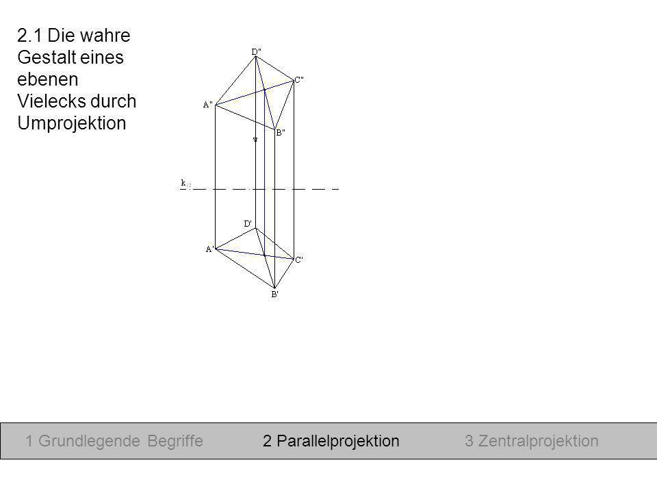 19.Januar 2010 1 Grundlegende Begriffe2 Parallelprojektion3 Zentralprojektion Nach: Skript Prof.