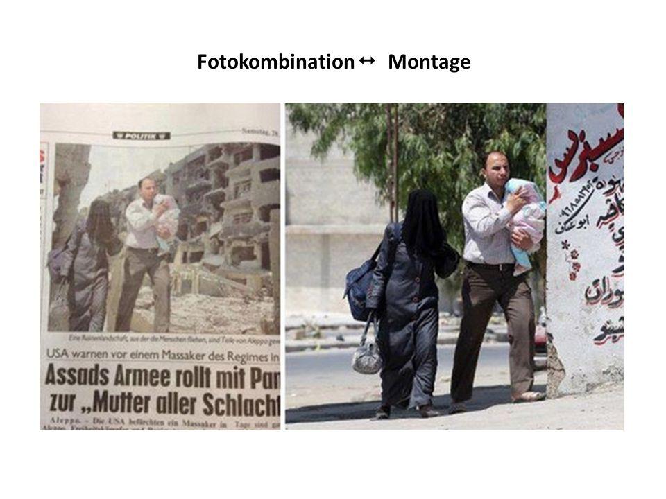Fotokombination Montage