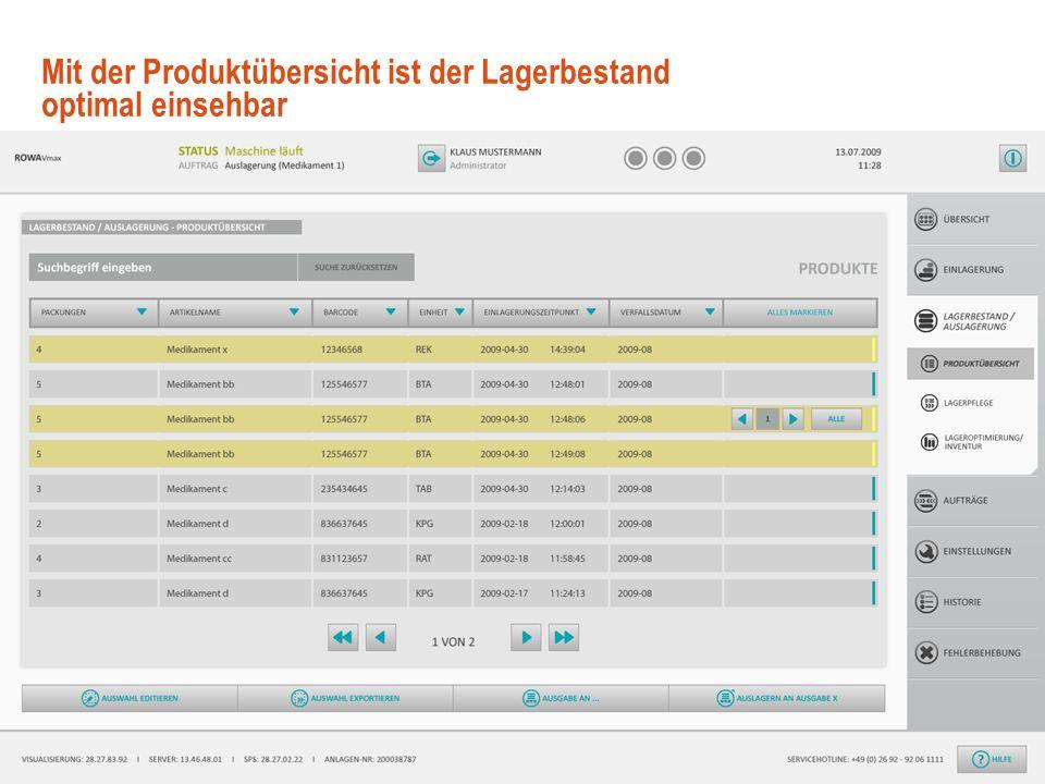 11 © User Interface Design GmbH Benutzerfreundliches GUI Design mit.NET WPF November 2009 Die Eingaben bei der Wareneinlagerung erfolgen über Touch-Sc