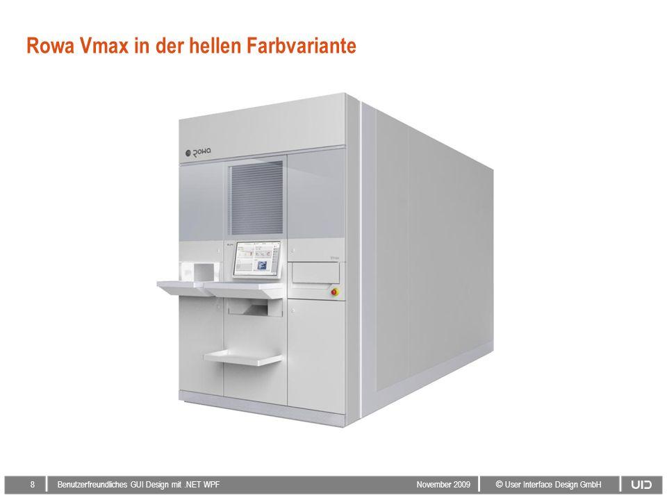 8 © User Interface Design GmbH Benutzerfreundliches GUI Design mit.NET WPF November 2009 Rowa Vmax in der hellen Farbvariante