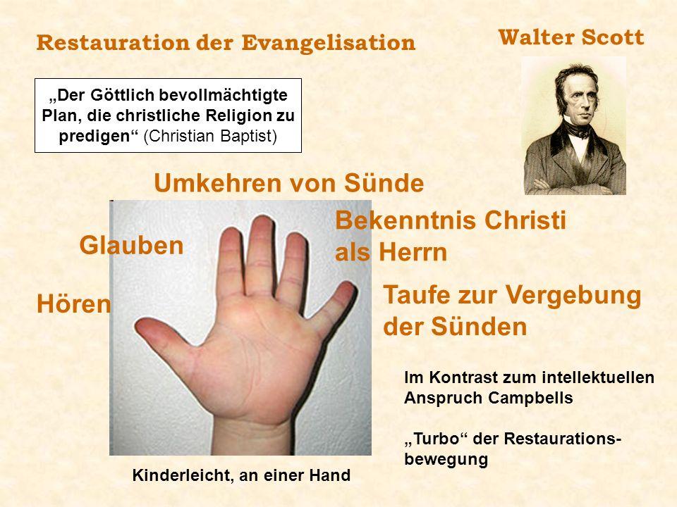 Der Göttlich bevollmächtigte Plan, die christliche Religion zu predigen (Christian Baptist) Restauration der Evangelisation Walter Scott Kinderleicht,
