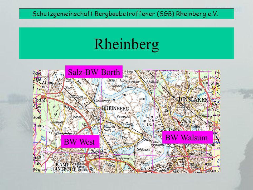 Schutzgemeinschaft Bergbaubetroffener (SGB) Rheinberg e.V. Rheinberg BW West BW Walsum Salz-BW Borth