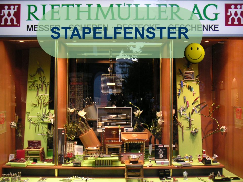 René Kilchsperger STAPELFENSTER Positives: -