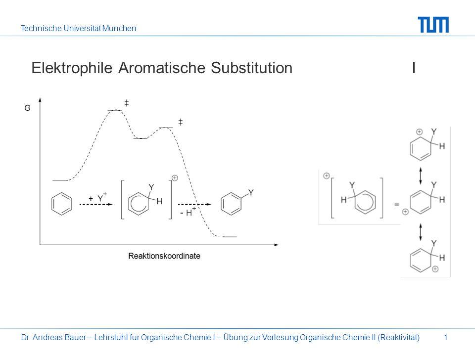 Technische Universität München Dr. Andreas Bauer – Lehrstuhl für Organische Chemie I – Übung zur Vorlesung Organische Chemie II (Reaktivität)1 Elektro