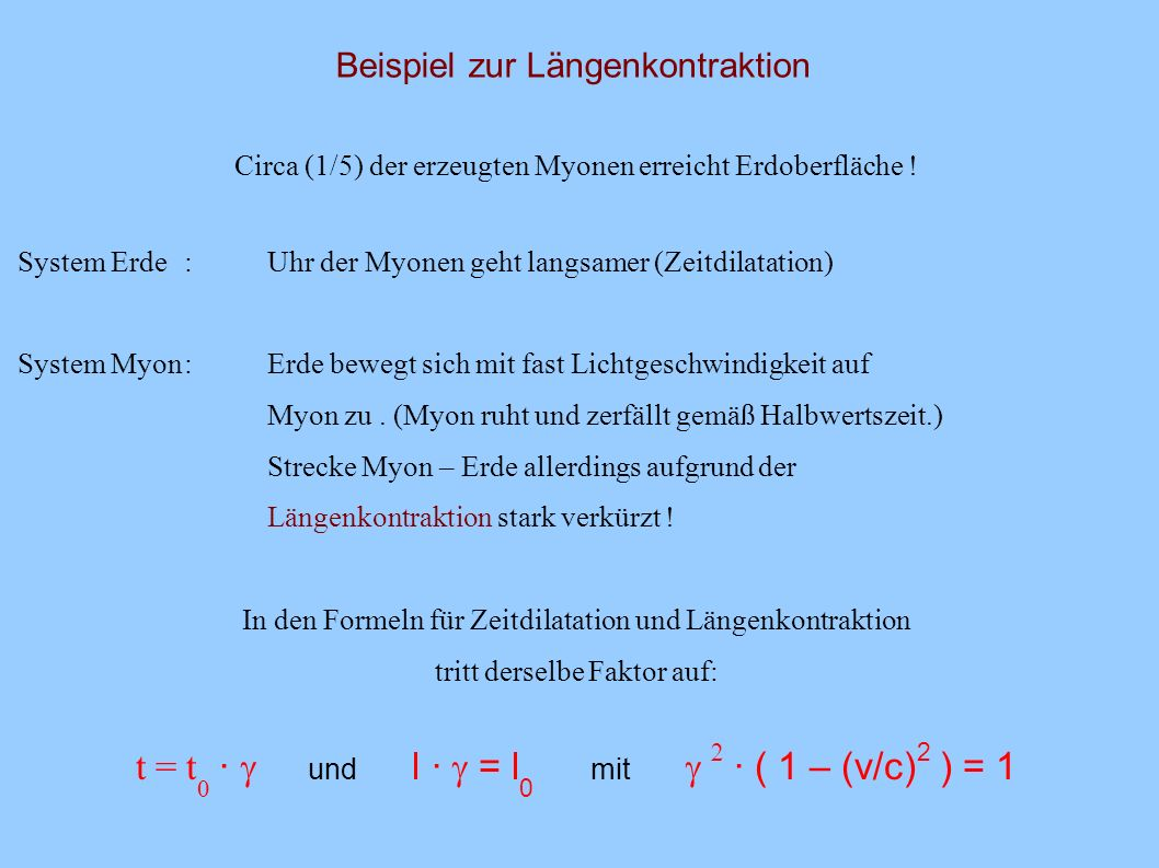 Längenmessung und Längenkontraktion