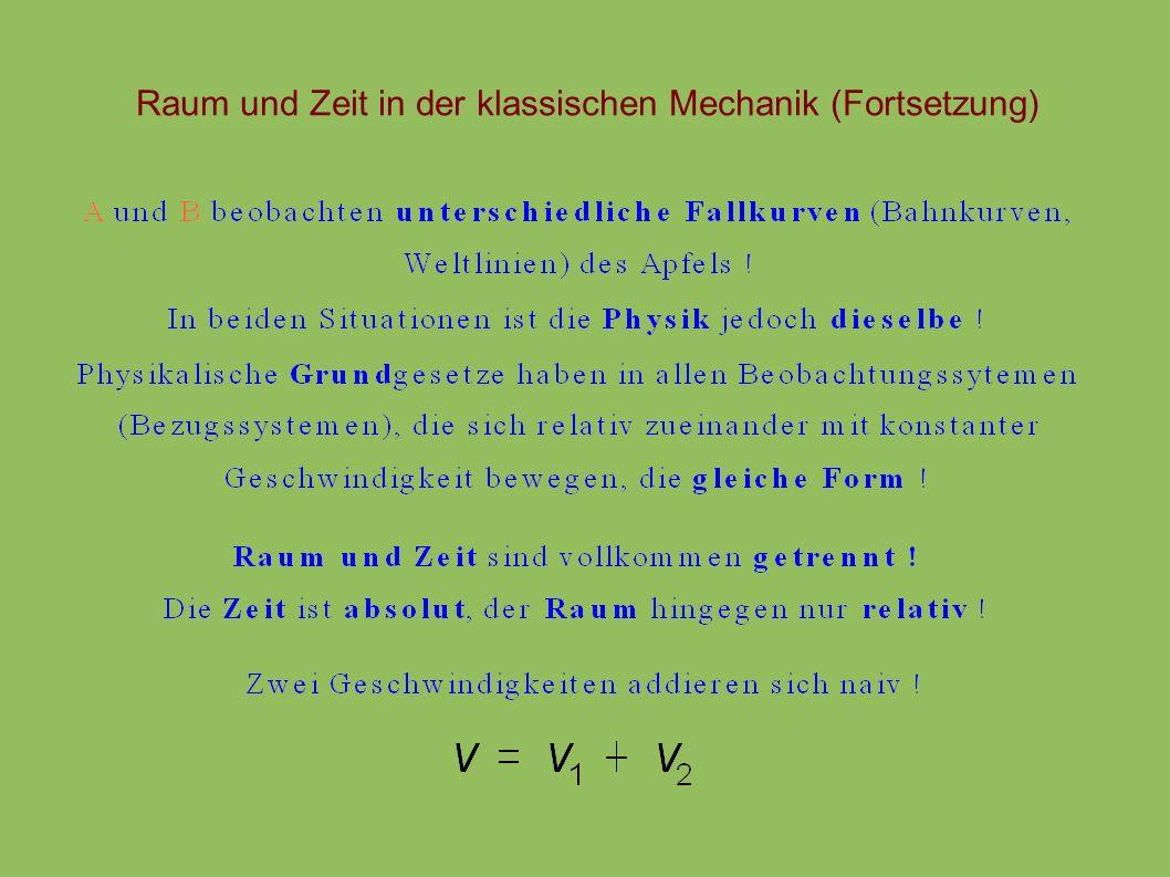 Zerstrahlung von Materie mit Antimaterie e e+e+ (Ruhemassen vorher) (Ruhemassen nachher) extremer Fall : Zerstrahlung von Materie mit Antimaterie : nach der Reaktion : E = 2 m c 2 Beispiel :Materie-Antimaterie-Reaktor mit m = 0,5 kg : E 1 kg · 9 · 10 16 m 2 /s 2 = 2,5 · 10 10 kWh : entspricht Energie aus Großkraftwerk (1 GW) in 3 Jahren; kostet ca.